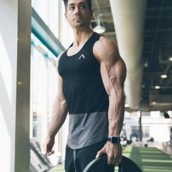 men's gym and fitness clothing collections, including gym t-shirts, bottoms, stringer-vests, tanks, hoodies and base layers