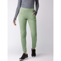 WOMEN OLIVE SOLID RUNNING TRACK PANT
