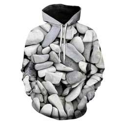 Printed Zip Hoodies Pullover