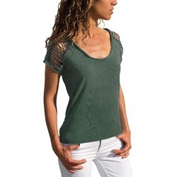 Ladies Short Sleeve T-Shirt Round Neck Top manufacturer