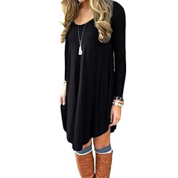 Women's Long Sleeve Casual Loose T-Shirt Dress Manufacturer