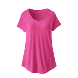 Ladies Short Sleeve Bamboo Jersey Scoop Neck T-Shirt manufacturer