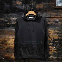 100% Polyester Camouflage Printing Black Men Pullover Hoodies manufacturer