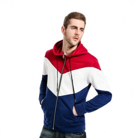 Wholesale Full Zipper Mens Fashion Hoodies with OEM Logo manufacturer