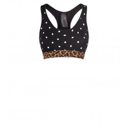 Black Spot Leopard Print Crop Top Bra Manufacturer