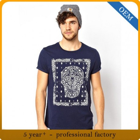 Custom High Quality Men 100% Cotton Printing Round Neck T-Shirt