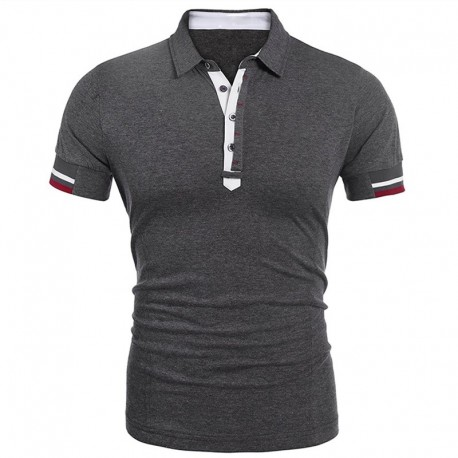 Customized Men′s Casual Button up Slim Fit Trendy Polo T-Shirt