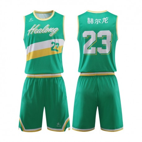 100%Polyester Latest Design Customized Sublimated Embroidered Basketball Jersey Uniform Design
