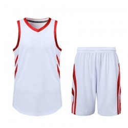 2019 High Quality OEM School White Basketball Uniform