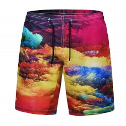 Custom/Customized 100% Polyester Beach Shorts 3D Sublimation/Sublimated Printing/Printed Boy/Men′s Beach Wear