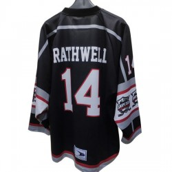 New Jersey Hockey Any Logo Sublimated Black Custom Hockey Jersey