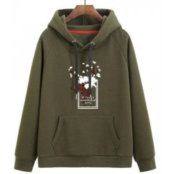 Custom Pullover Clothing Cotton/Polyester Hoody Animals Printing Cute Women′s Hoodie