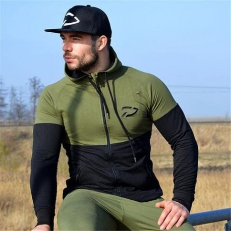 Men's Loose Cotton Pullover Gym Workout Hoodie