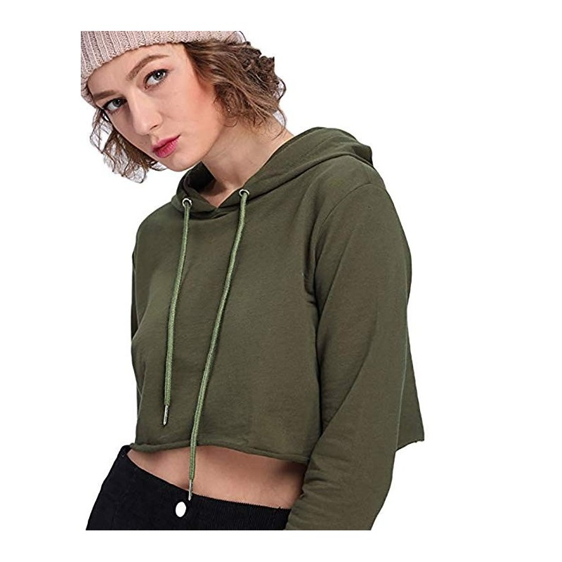 be34ec3360e ... Hoodies for Women Workout Crop Top Hoodie Hooded Pullover Sweatshirt ...