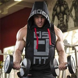 Better Body Gym Hoodie Men Bodybuilding Stringer Tank Top Muscle Sleeveless Shirt