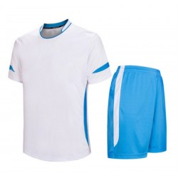 Soccer Jersey Set Blue and White Soccer Uniforms