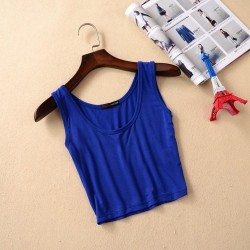 WOMEN SUMMER STYLE SLEEVELESS CROP TOP