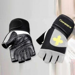 Leather Padded Weight Training Gloves