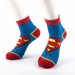 Comic superman icon ankle socks Manufacturer & Supplier