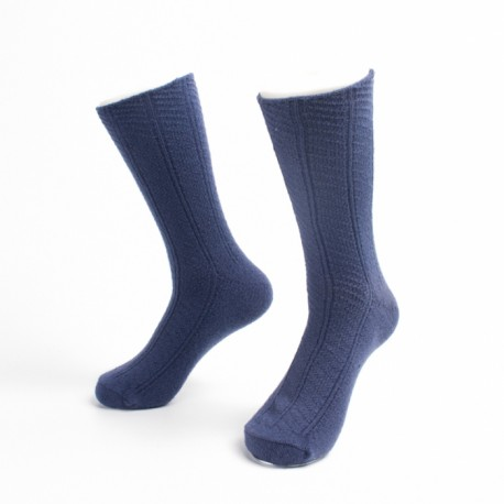 Pure dark blue men casual dress socks Manufacturer