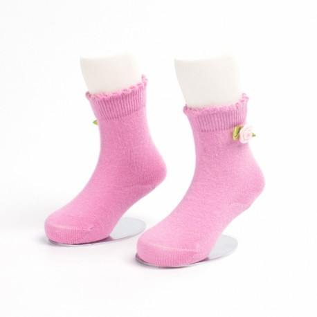 Solid color and flower kids cotton socks Manufacturer & Supplier