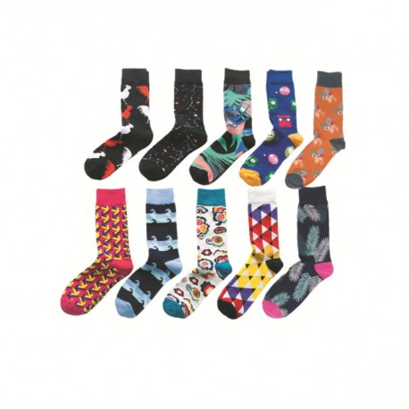 Combed cotton facy men socks Manufacturer