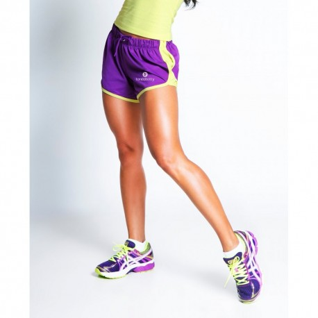 Gray/Pink Speed Activewear Shorts