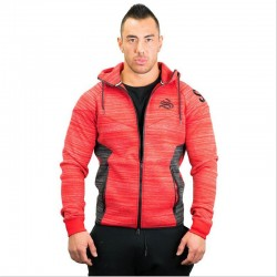 2018 Men's Muscle Gyms Winter Leisure Add thick Male Sweatshirts Hooded Cardigan